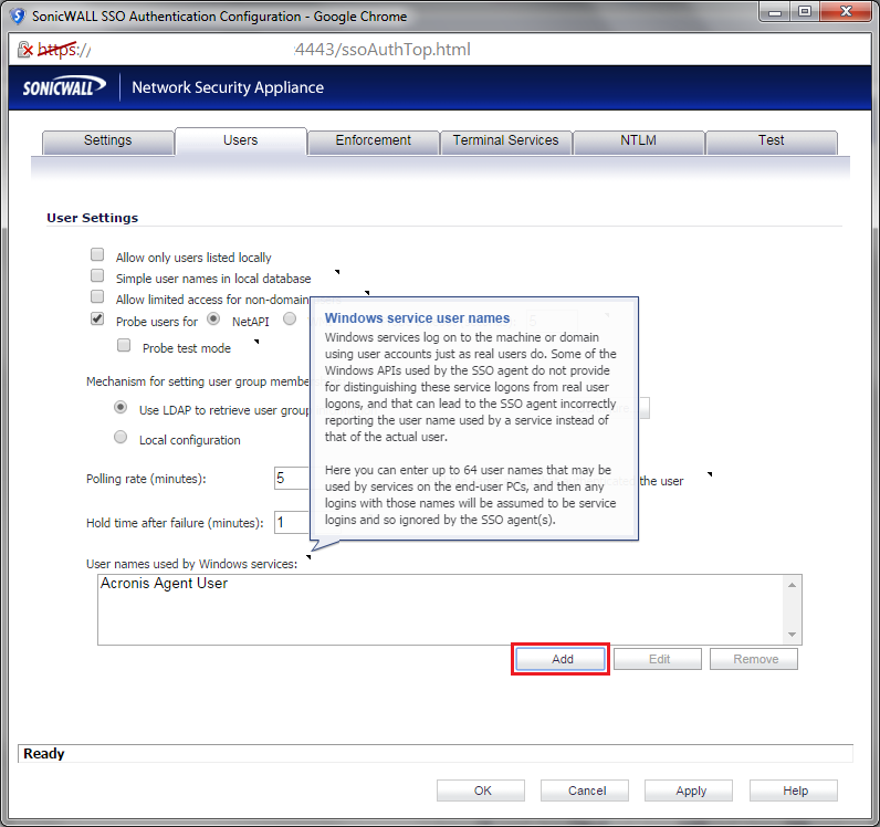SonicWALL SSO Bypass for Windows Update | Mendes Consulting
